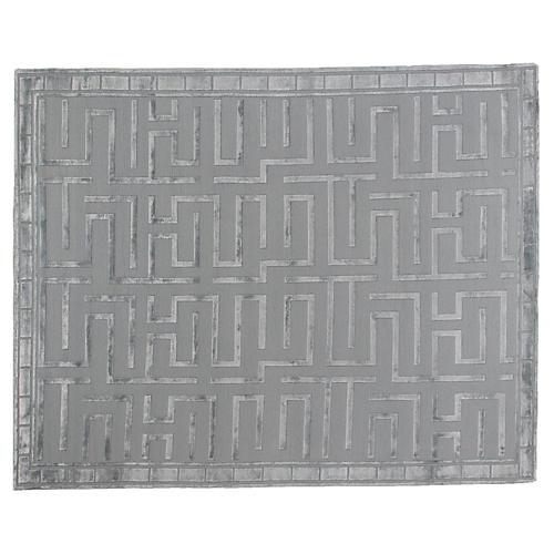 Velvet Maze Rug, Light Aqua