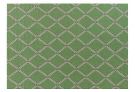 Afton Dhurrie, Light Green
