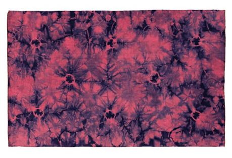 5'x8' Babylon Flat-Weave Rug, Blue/Pink