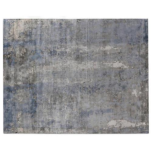 Alastor Rug, Blue/Silver