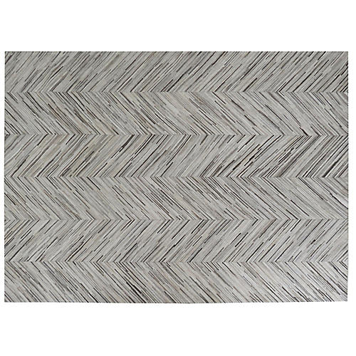 Foster Hide Rug, Gray