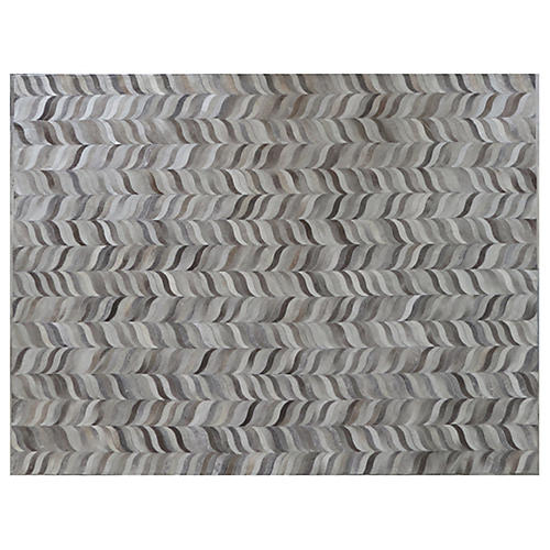 Forman Hide Rug, Silver/Gray