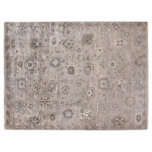 Helen Hand-Knotted Rug, Ivory