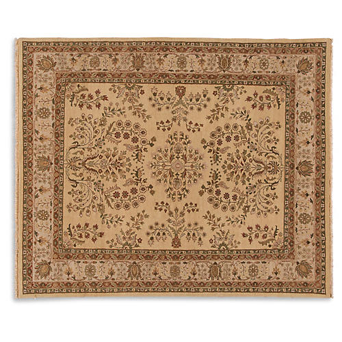 "8'3""x10' Oushak Hand-Knotted Rug, Latte"