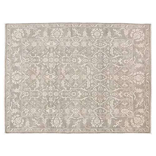 "8'10""x12' Oushak Hand-Knotted Rug, Gray"