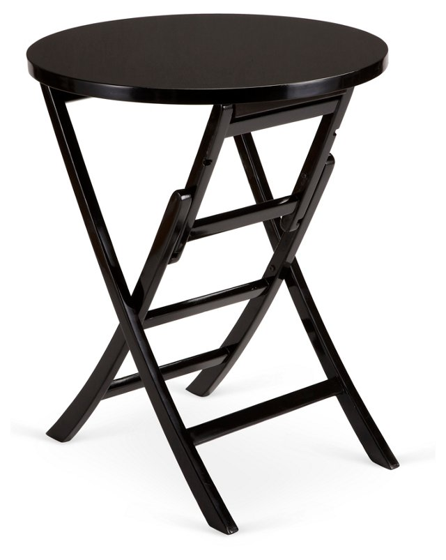 "Levison 24"" Tray Table, Black"