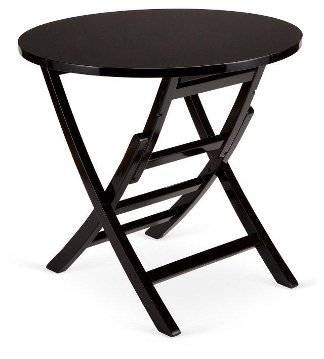 "Round 32"" Folding Table, Black"