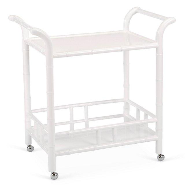 Rupert Bar Cart, White