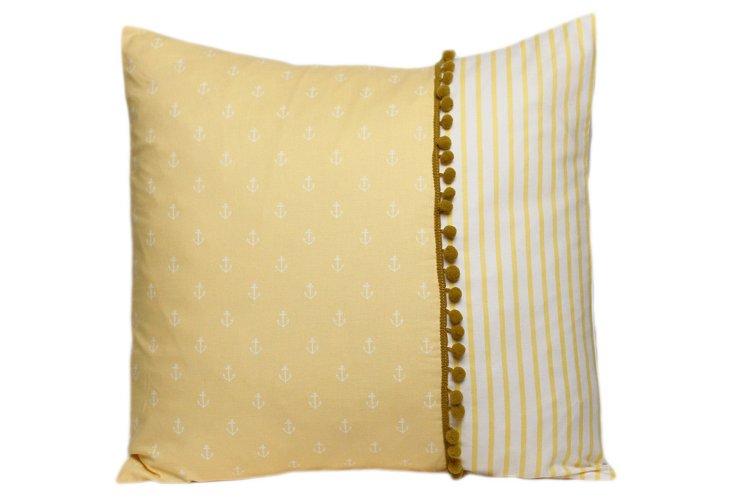 Decorative Pillow, Stripes/Anchors NO.1