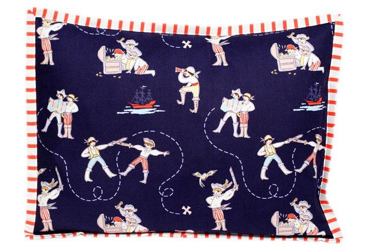 A Pirate's Life Pillow, Navy