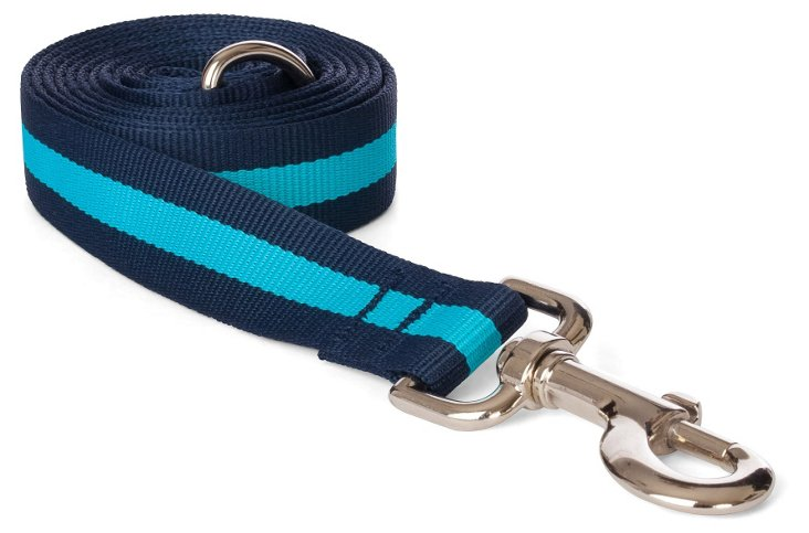Stripe Dog Lead, Blue/Navy