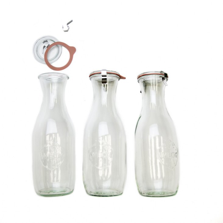 S/3 Weck Carafes, 1L