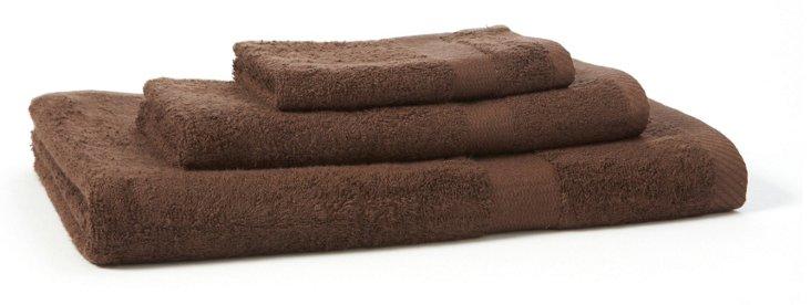 3-Pc Bamboo Towel Set, Chocolate