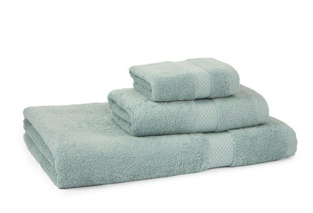 3-Pc Cotton Towel Set, Dreamy Blue