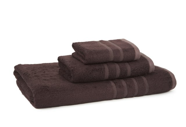 Linea Bamboo Towel Set, Black