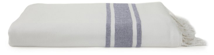 Soft Terry Fouta Towel, Navy