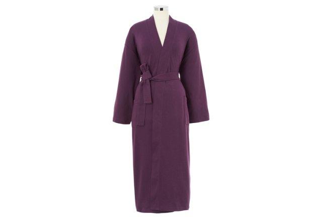 Organic Knit Bathrobe, Purple