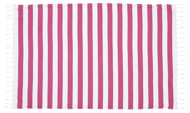 Striped Beach Towel, Fuchsia