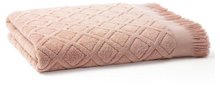 Trellis Bath Sheet, Rose