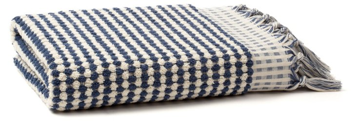 Bubble Bath Towel, Steel Blue