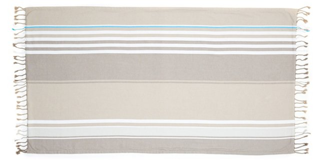Sunset Terry Beach Blanket, Gray