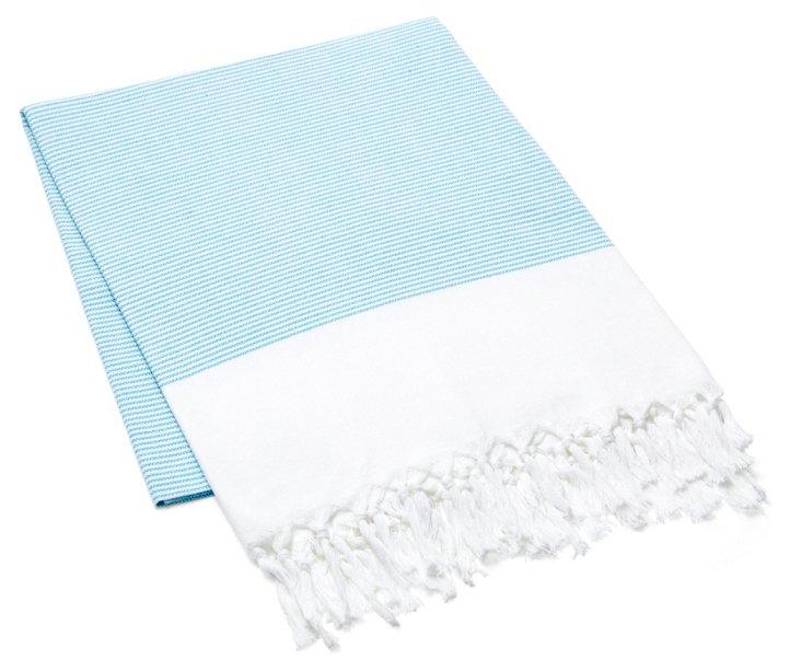 Lapiz Cotton Beach Blanket, Turquoise