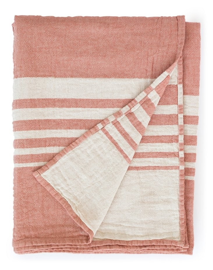 Bali Cotton Throw, Red
