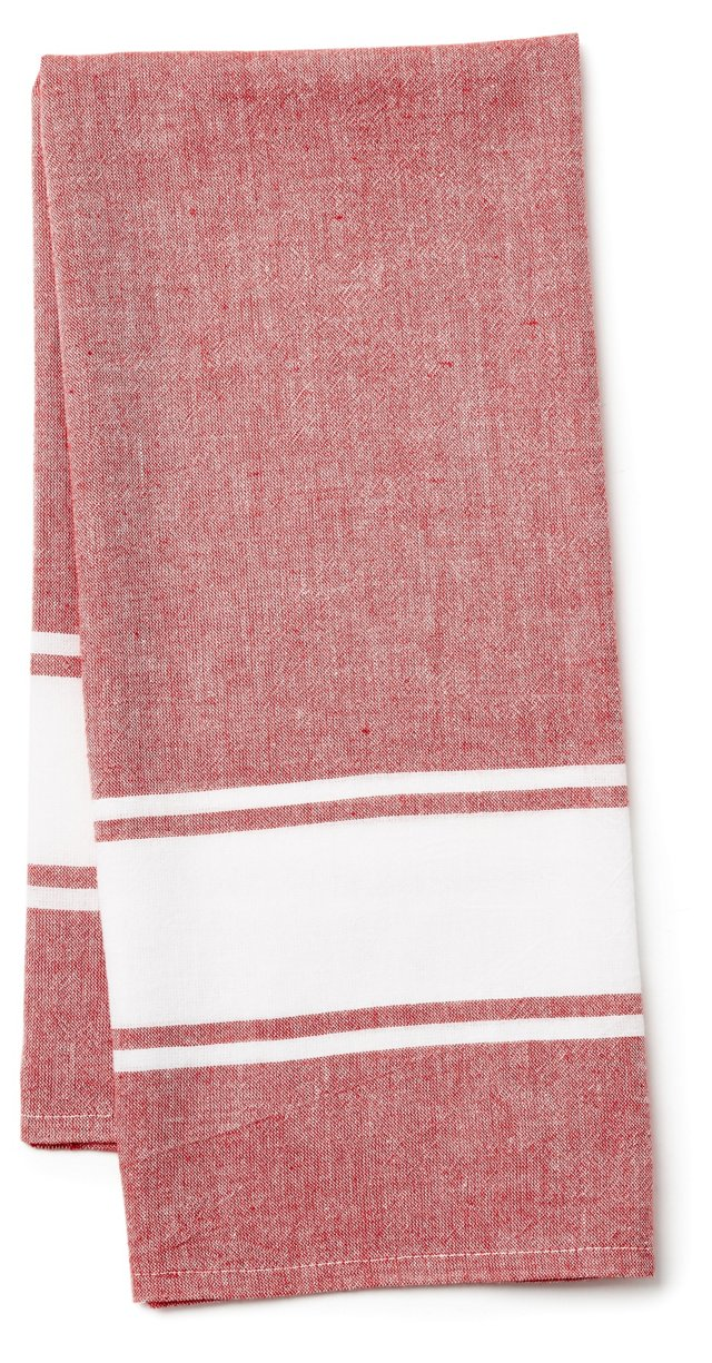 Classic Kitchen Towel, Red