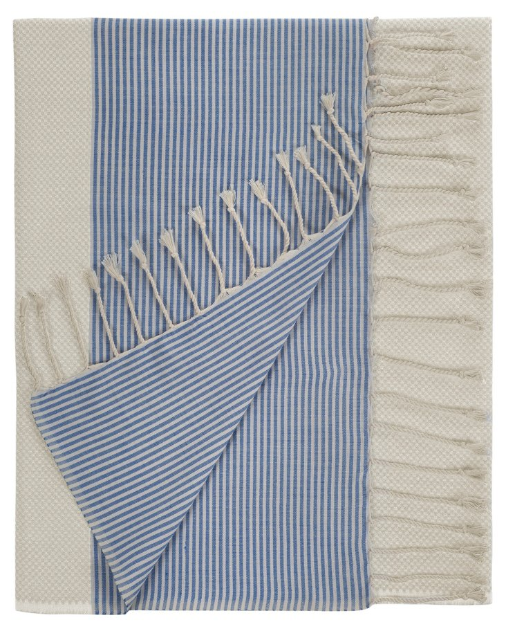Aegean Turkish Towel, Blue