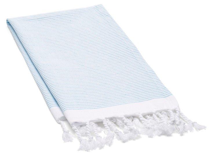 S/2 Lapiz Hand Towels, Turquoise