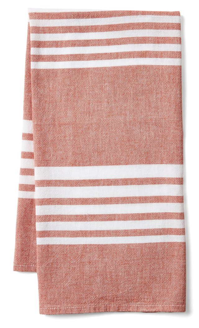 Bali Kitchen Towel, Red