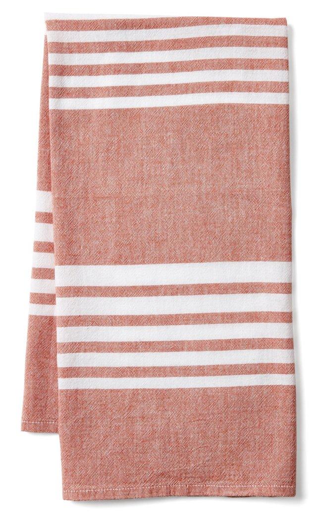 Bali Kitchen Towel, Red