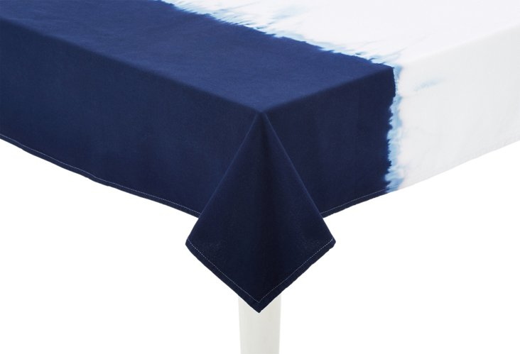 Dip-Dye Tablecloth, Blue
