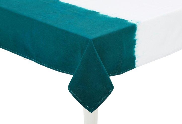 Dip-Dye Tablecloth, Teal