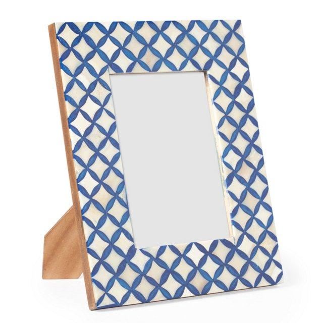 Inlaid Frame, 5x7, Blue