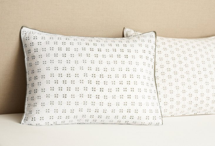 S/2 Std Pillowcases, Ash Gray