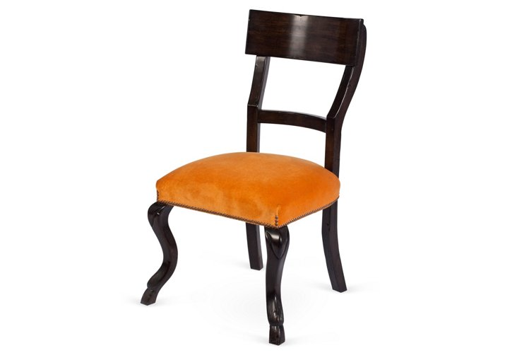 Kent Side Chair, Pumpkin