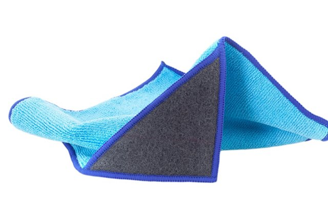 S/6 The Edge Microfiber Scrubby Cloths