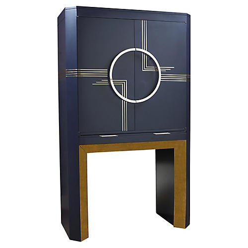 Highball Bar Cabinet, Midnight