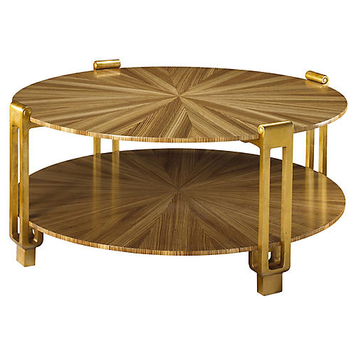 Rob Roy Coffee Table, Light Zebrawood