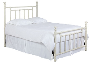 Emily Steel 4-Poster Bed, Rustic Ivory