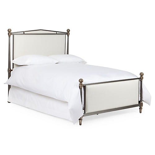 Adeline Bed, Aged Silver
