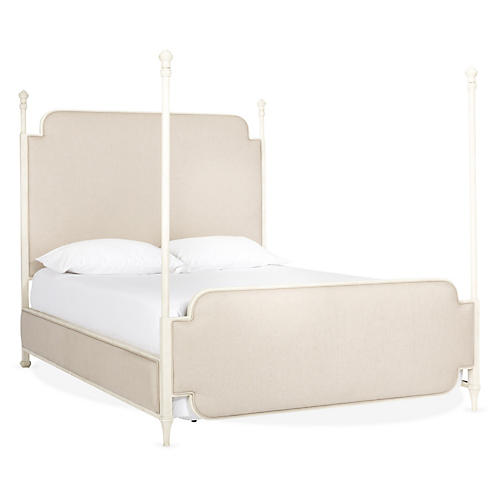 Kenton Four-Poster Bed, Oatmeal
