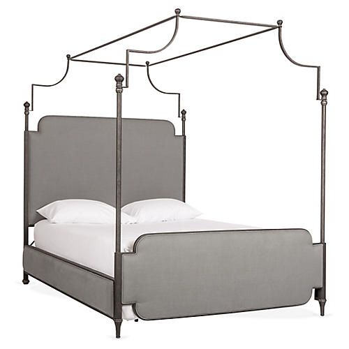 Loren Canopy Bed, Dawn Gray