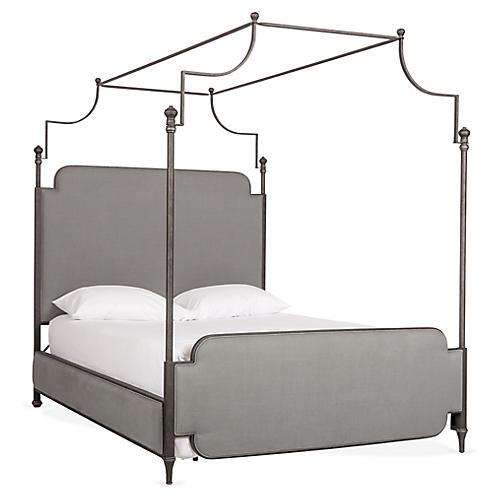 Loren Canopy Bed, Dawn Gray