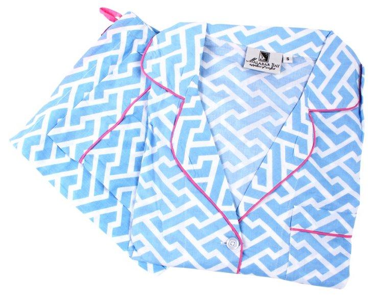 Molly Pajama Set, Blue