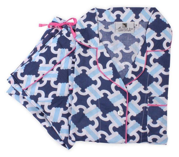 Catalina Navy Pajama Set
