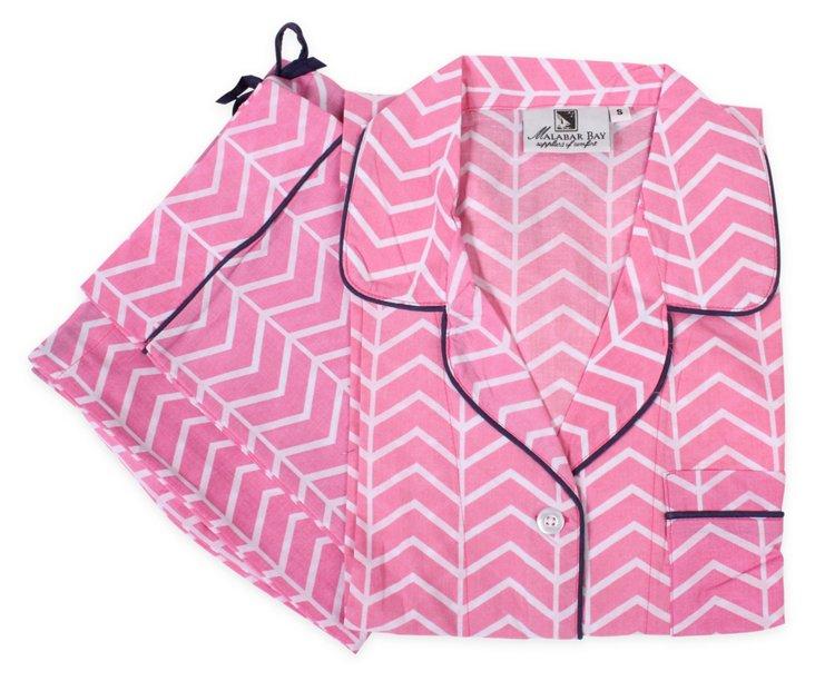 Vortex Pink Pajama Set L