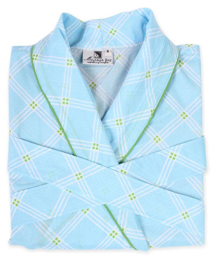 Small/Medium Window Pane Robe, Blue