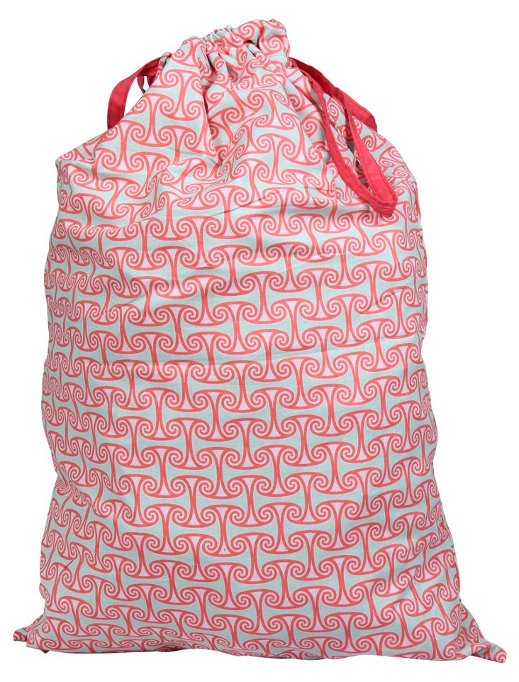 Alice Laundry Bag, Coral